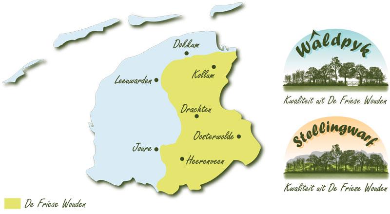Kaart De Friese Wouden
